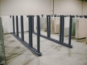 barras auxiliares horizontales y verticales pintadas
