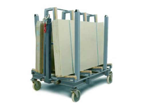 Heavy load trolley for packs of boards/counters