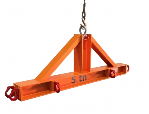 Hanger-shaped lifting beam for loading packages with sling. 1.8m long