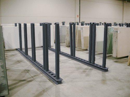pareja de barras horizontales y verticales galvanizadas
