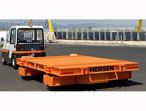 Hersen fabrica dos remolques industriales de gran tonelaje para el transporte de tableros de piedra
