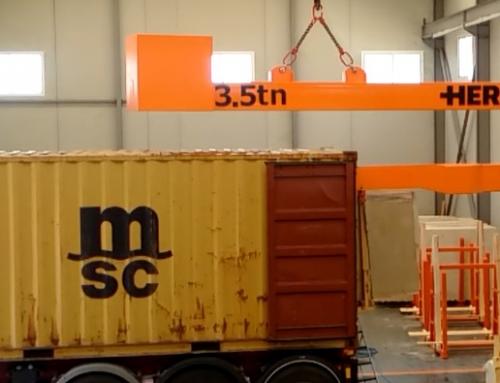 Tipos de brazos de carga para contenedores