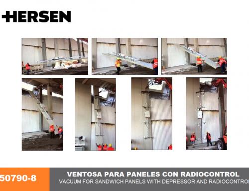 Ventosa de 8 puntos para paneles con depresor y radiocontrol