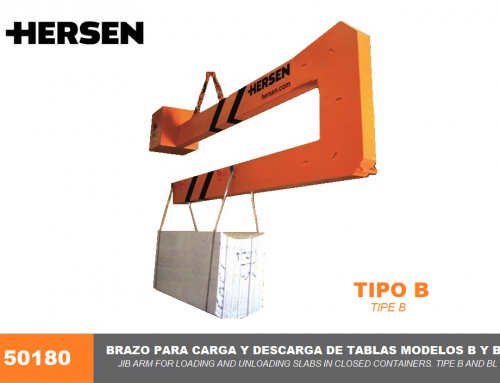 Jib Arm for loading and unloading Slabs in Closed Containers. Tipe B and BL