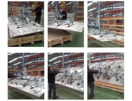 Ventosa para tablas de porcelánico de gran formato.