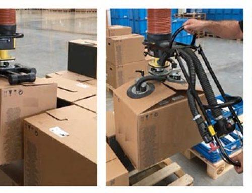 Instalación de 5 manipuladores industriales de cargas por vacío ergonómicos