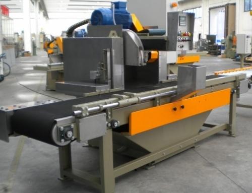 Encabezadora automatica con cinta y corte por pasadas