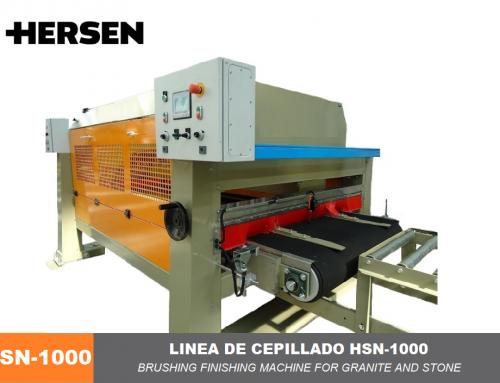 Brushing finishing machine for granite and Stone HSN-1000