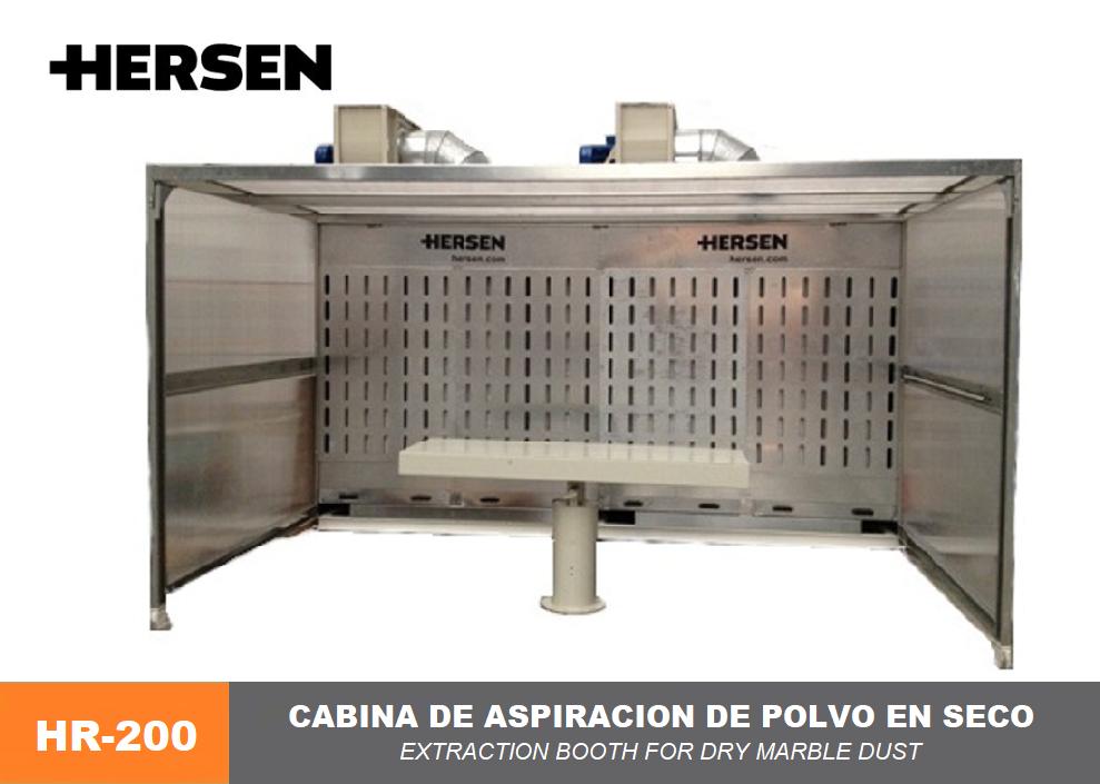 cabina de aspiracion de polvo en seco HR-200