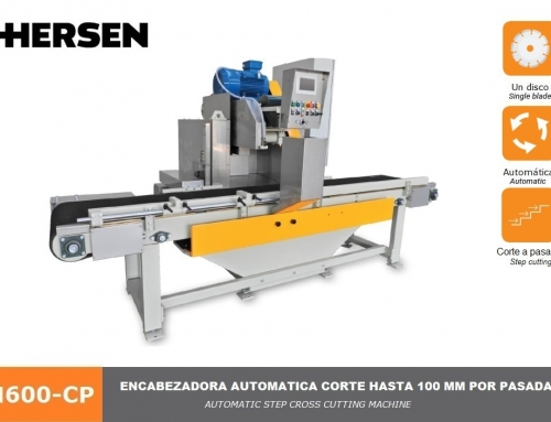 Cross cutting machine with single blade, transport belt and automatic multiple pass