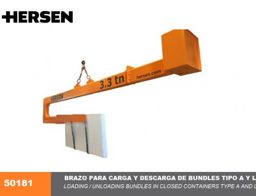 Brazo para grúas de carga y descarga de bundles en contenedores Modelos A y L