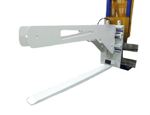 Jib arm for loading and unloading bundles for forklift