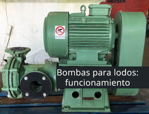 ¿Cómo funcionan las bombas para lodos?